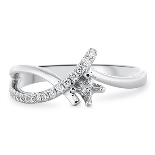 Designer Engagement Ring Setting (semi-set)