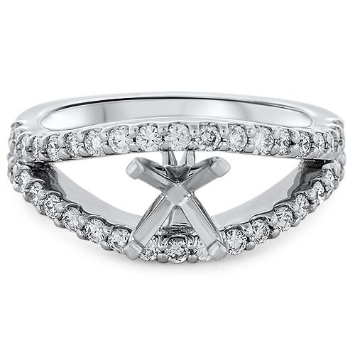 Modern Split Shank Engagement Ring Setting (semi-set)