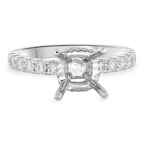 Pavé Engagement Ring Setting (semi-set)