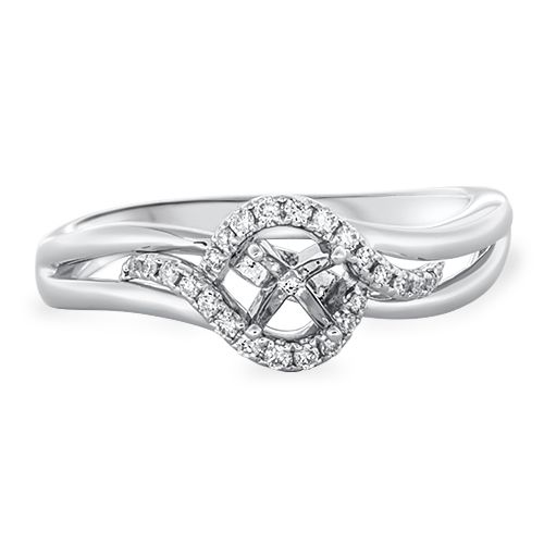 Petite Diamond Engagement Ring Setting (semi-set)