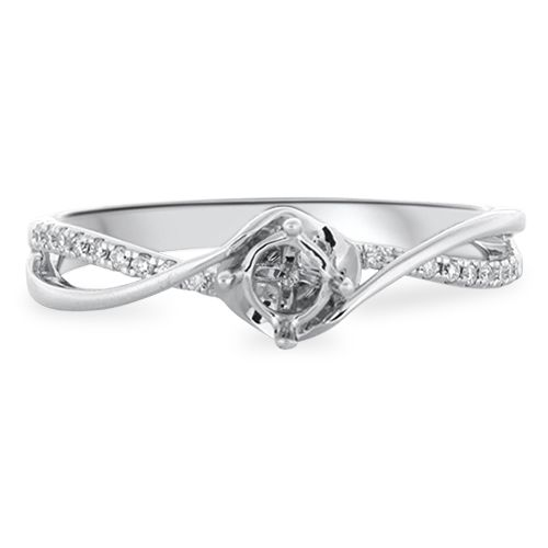 Twist Shank Designer Engagement Ring Setting (semi-set)
