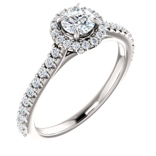 Classic Halo Engagement Ring, 0.25ct