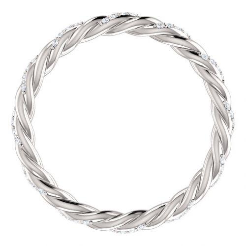 Rope Design Diamond Eternity Ring