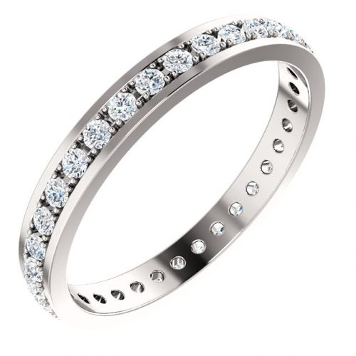 Flat Edge Diamond Eternity Band
