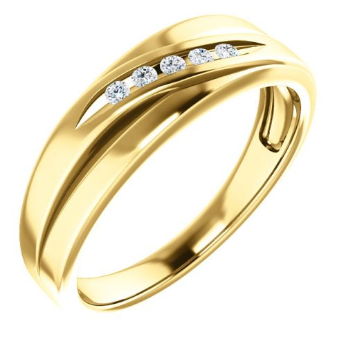 Men's Diamond Accented Ring