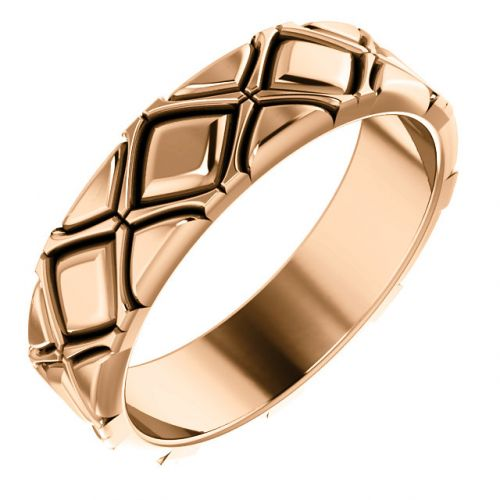 X- Pattern Quilted Men's Ring