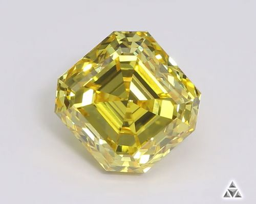 Asscher 1.34 Carat Fancy Diamond