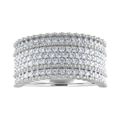 All Lab-created Diamonds micropavé Anniversary Band