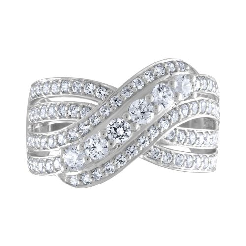 Bypass Split Shank Diamond Ring