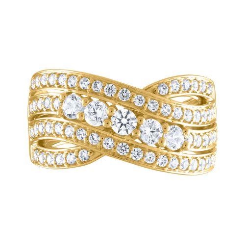 Split Shank Bypass Diamond Ring