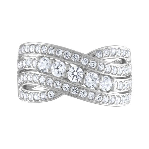 Split Shank Bypass Diamond Ring