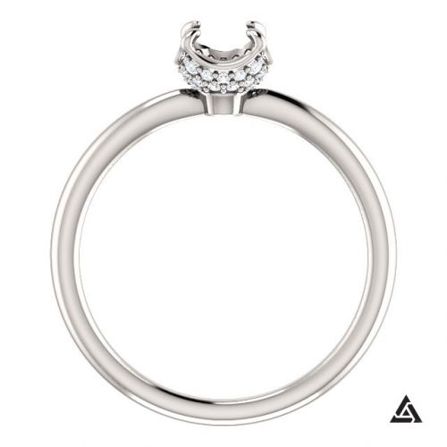 Modern Engagement Ring Setting (semi-set)