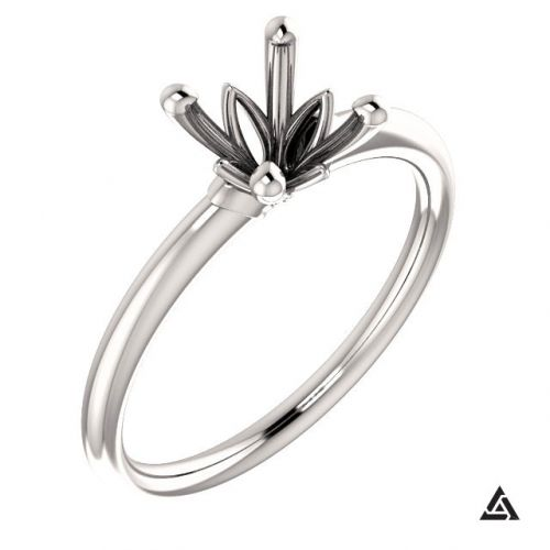 Modern Solitaire Engagement Ring Setting