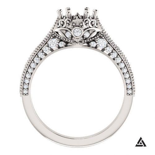 Vintage Inspired Engagement Ring Setting (semi-set)