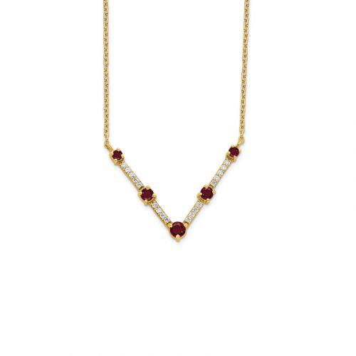 Diamonds and Ruby Necklace
