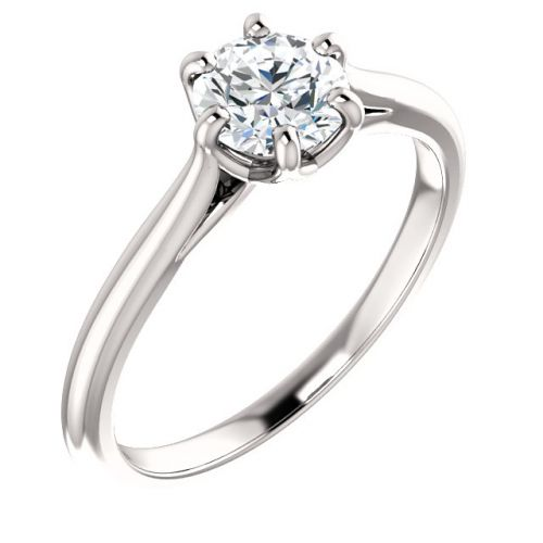 Lab Grown Diamond Solitaire Engagement Ring with 0.75 Carat Diamond  (semi-set)
