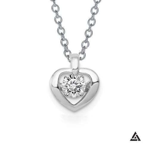 0.25 CT Diamond Heart Pendant and Chain