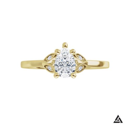 0.50 Carat Pear Brilliant Diamond Engagement Ring