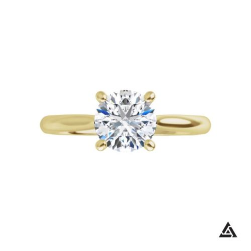 0.80-Carat Round Brilliant Diamond Classic Solitaire Engagement Ring
