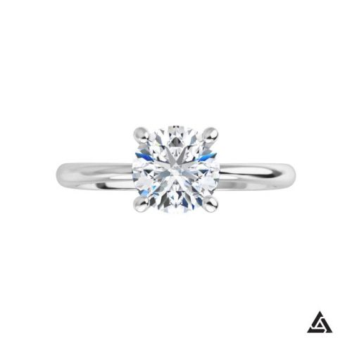 0.85-Carat Round Diamond Solitaire Engagement Ring