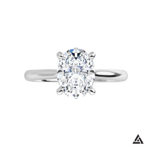 0.94-Carat Oval Brilliant  Diamond Solitaire Engagement Ring