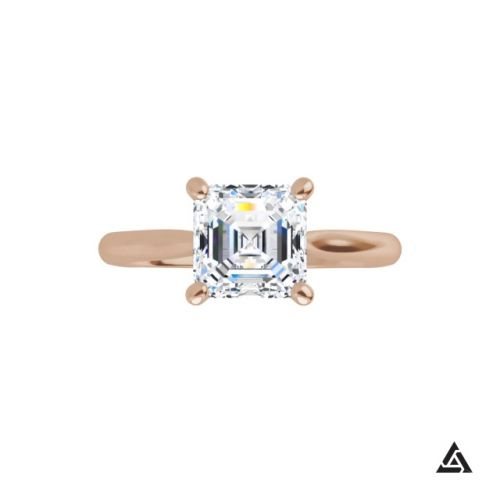 1.00-carat  Asscher cut Diamond Solitaire Engagement Ring