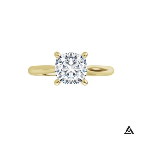 1.02-Carat Cushion Cut Diamond Solitaire Engagement Ring