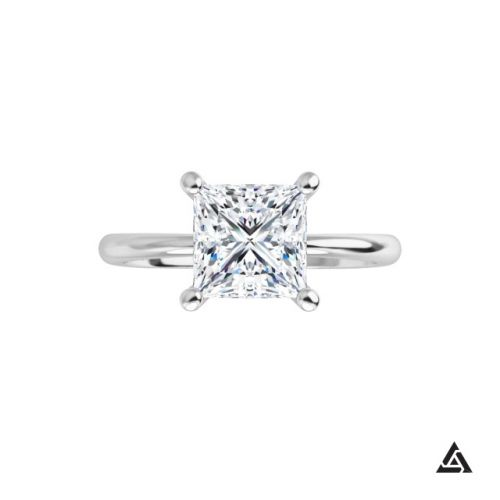 1.41-Carat Round Brilliant Diamond Solitaire Engagement Ring