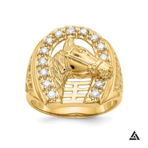 Diamond Stallion Men's Ring